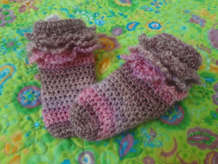 Crochet Ruffle Socks
