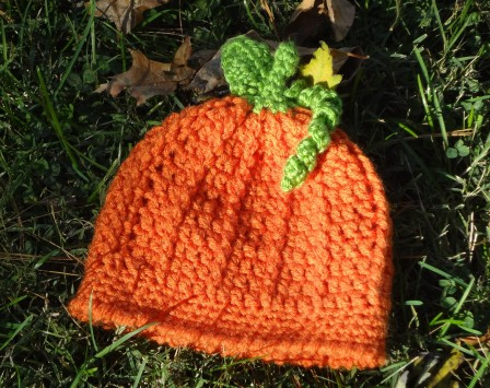 Crochet Pumpkin Harvest Hat