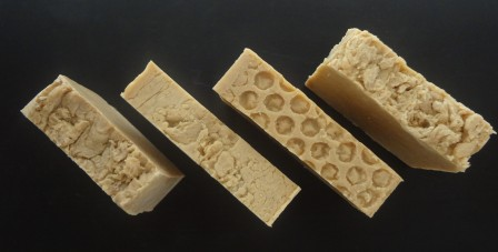 Bars of rebatched soap
